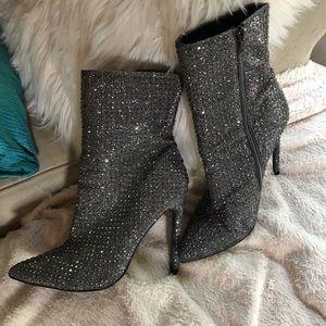 Steve Madden Rhinestone Wifey Ankle Boots